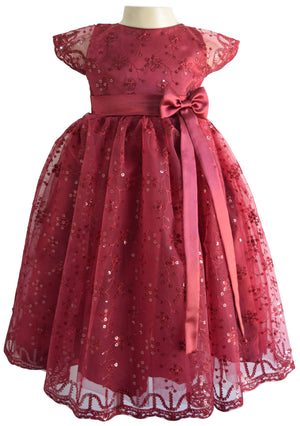 Party Gown_Faye Burgundy Schiffli Gown