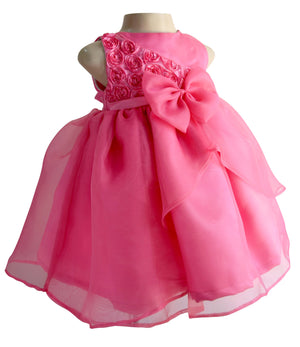 Baby girl dress_Candy Pink Rosette Dress
