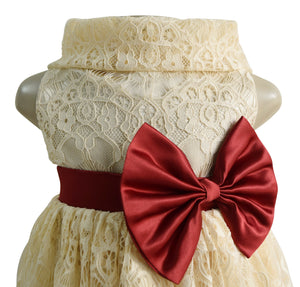 Faye Champagne Lace Cowl Dress for kids