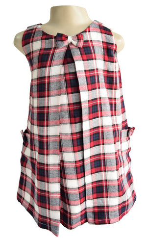 Checks Pleated Dress for Kids