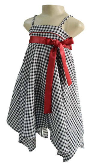 kids wear_Faye Checks Shark Hem Dress