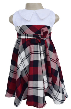 kid dress_Faye Collared Plaid Dress