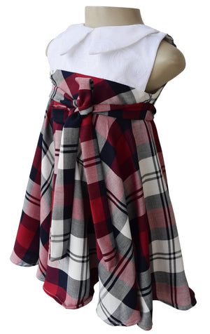 Girls dress_Faye Collared Plaid Dress