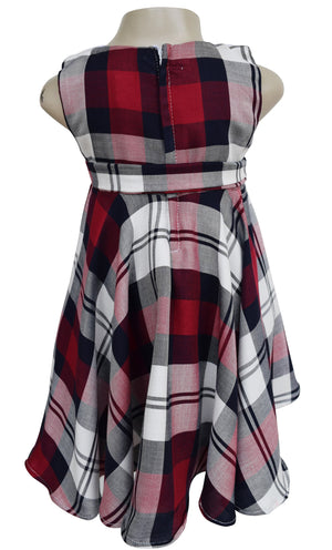 dress for kids_Faye Collared Plaid Dress