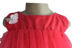 Faye Coral Tiered Kids Party Dress