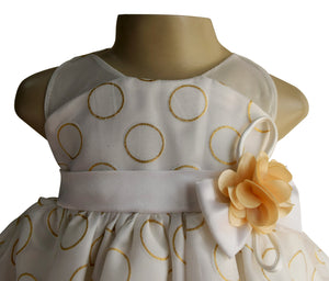 Cream & Gold Foil Kids Birthday Dress