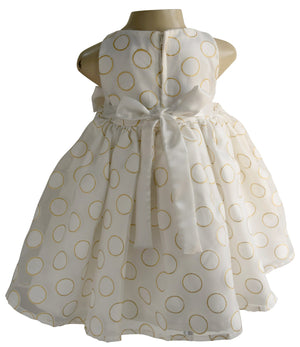 Cream & Gold Foil Kids Dress_Faye