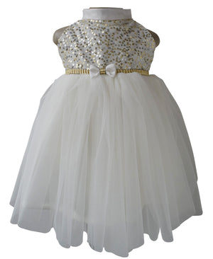 Kids Dress_Cream Sequin Dress_Faye