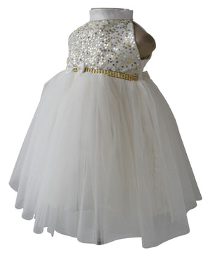 Kids Party Dress_Cream Sequin Dress_Faye