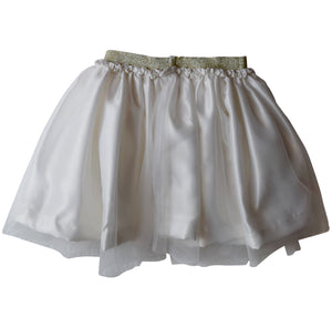 Cream Tutu Skirt for Kids