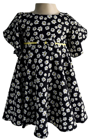 Faye Floral Flutter Sleeve Dress for Baby Girls