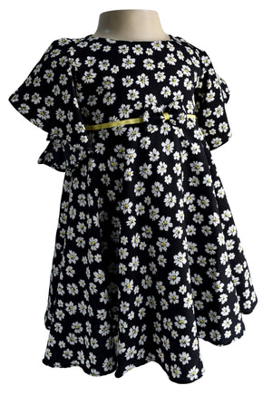 Faye Floral Flutter Sleeve Dress for kids