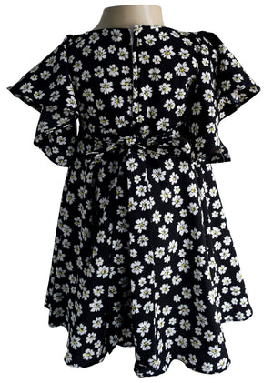 Faye Floral Flutter Sleeve Dress