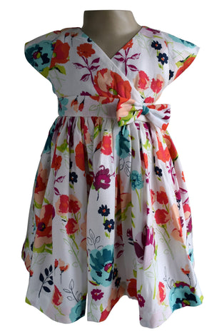 Faye Floral Viscose Dress for girls