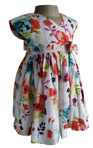 Faye Floral Viscose Dress for Kids