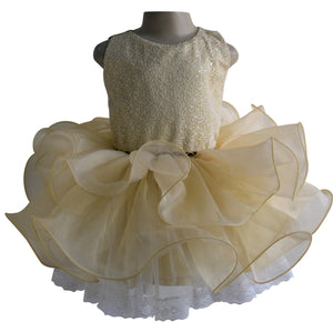 Gold Ballerina Dress for Baby Girls