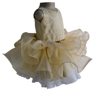 Gold Ballerina Baby Dress