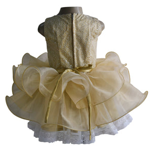 Gold Ballerina Dress for Girls
