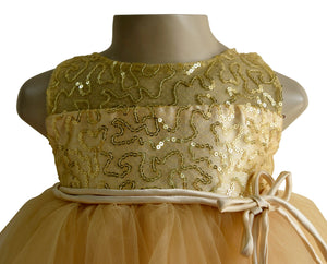 Gold Sequence Dress for Kids_Faye