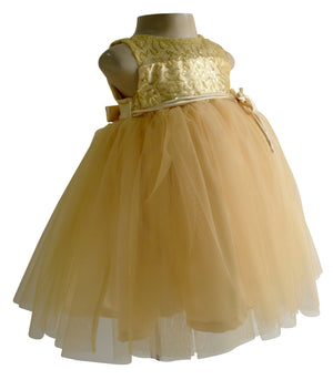 Gold Sequence Party Dress for Girls_Faye