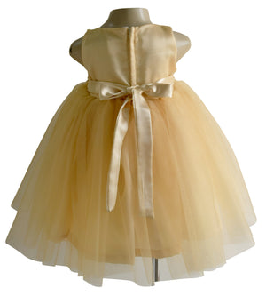 Gold Sequence Dress for Girls_Faye