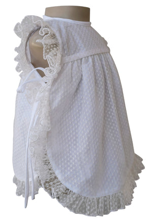 Baby Girl Dress_Faye Ivory Dot Baby Dress