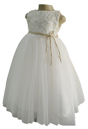 Party Gown_ Faye Ivory Embroidered Gown for kids