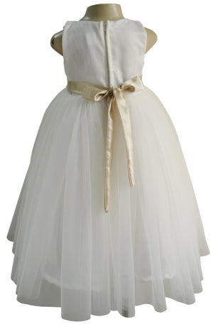 Kids Gown_ Faye Ivory Embroidered Gown