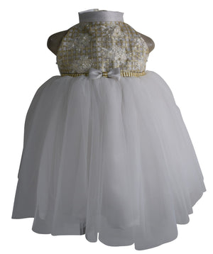 Kids Party Dress_Faye Ivory Sequence Dress