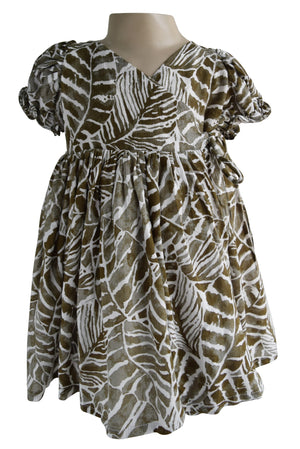 Faye Jungle Wrap Dress for Kids
