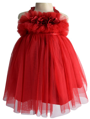 Faye Maroon Ceremonial Dress for girls