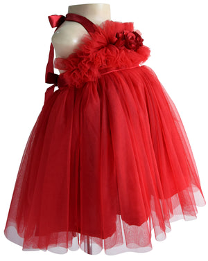 Kids Party Dresses_Faye Maroon Ceremonial Dress