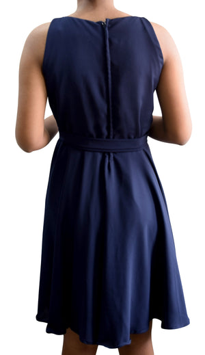 Faye Navy Georgette Party Dress