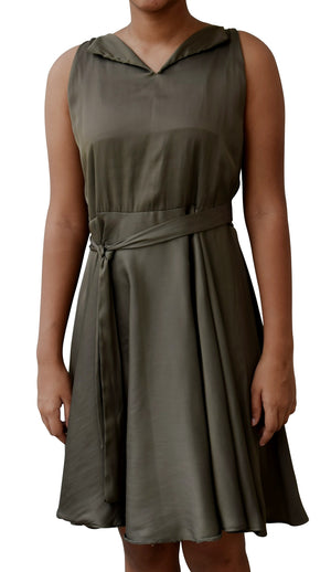 Party Dress for Teens_Faye Olive Collar Dress