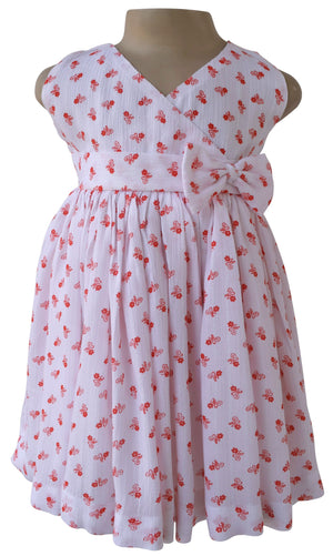 Dress for Kid_Faye Orange Floral Print Dress