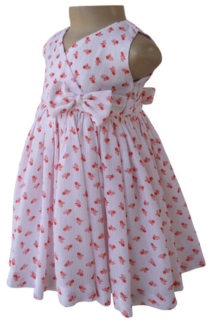 Dress for girls_Faye Orange Floral Print Dress