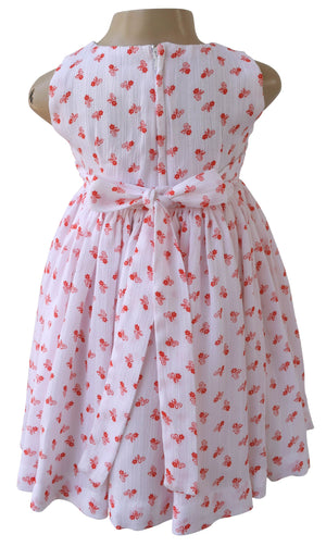 Kids wear_Faye Orange Floral Print Dress