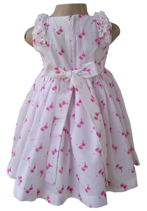 Faye Palm Print Cotton Dress for kids