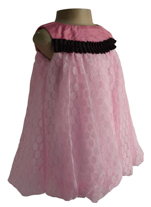 kids dress_Faye Pink Lace Balloon Dress