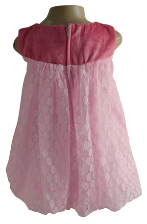 Faye Pink Lace Balloon Dress