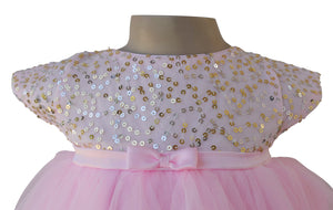 Kids Party Dress_Pink Sequin Dress_Faye