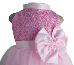 Gown for girls_Faye Pink Sequin Gown