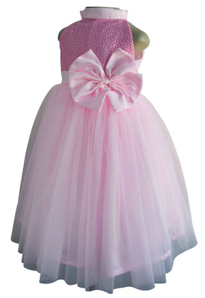 Girls party gown_Faye Pink Sequin Gown