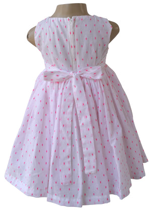 Girls dress_Faye Pink Swiss Dot Dress