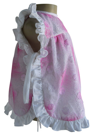 Pink & White Lace new born Baby Dress