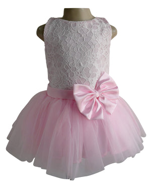 Pink & White Lace Tutu Dress for girls