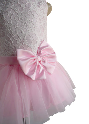 Pink & White Lace Tutu Dress