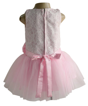 Pink & White Lace Tutu Party Dress for girls