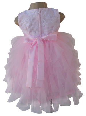 Faye Pink & White Waterfall Party Dress