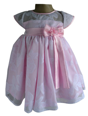 Faye Pink & White lace Party Dress for girls